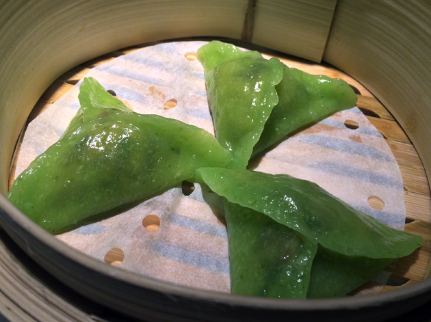 pak choi dumplings at ping pong