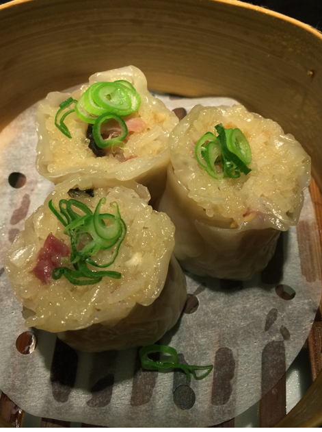 pork and mushroom sticky rice dumplings at ping pong