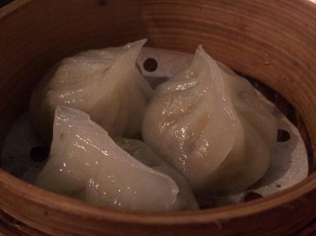 pork and radish dumplings at courtesan