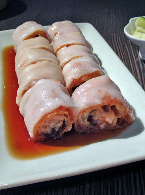 prawn and beancurd cheung fun at yauatcha