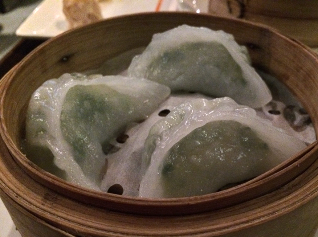 prawn and chives dumplings at firecracker