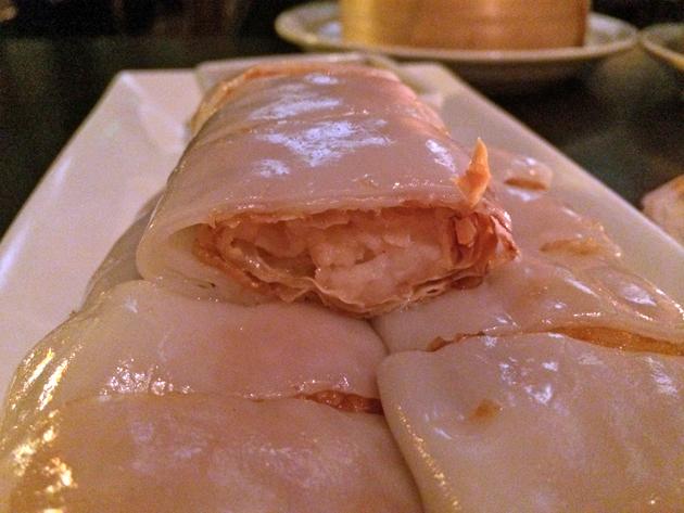 prawn and dried beancurd cheung fun at courtesan