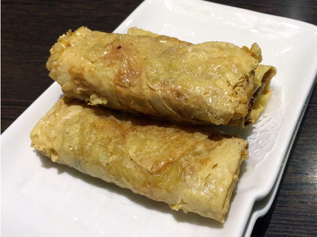 prawn in fried bean curd wrap at suki