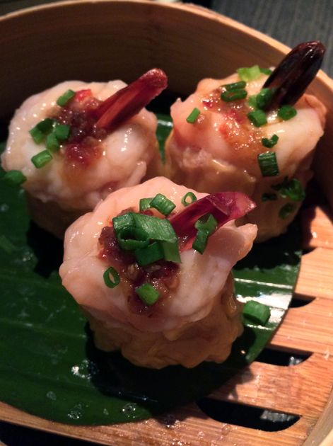 prawn siu mai with chicken at yauatcha