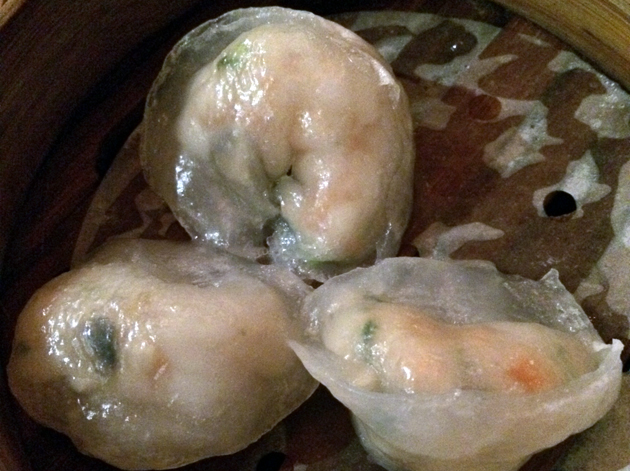scallop and prawn dumplings at yum cha silks and spice
