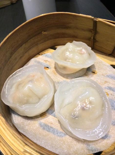 scallop and shiitake dumplings at ping pong