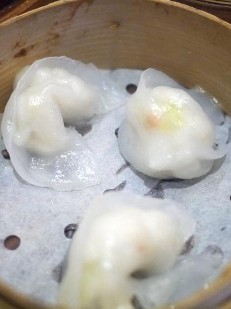 scallop dumplings at new china