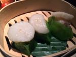scallop dumplings at plum valley