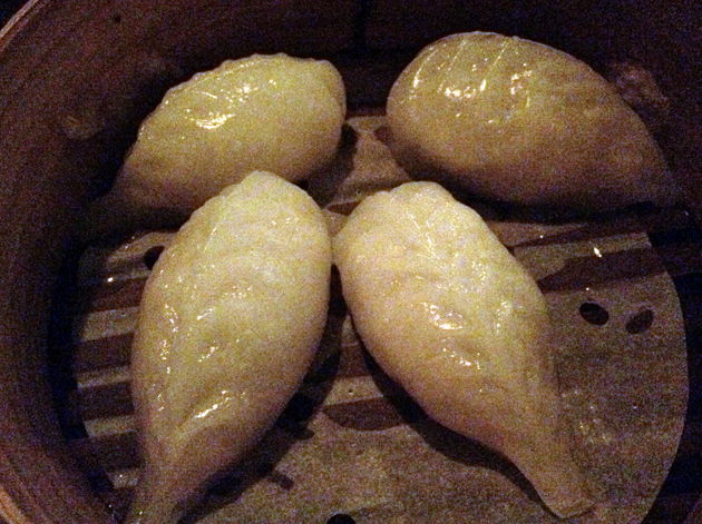 sea bass and fennel dumplings at opium