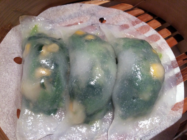 spinach vegetable dumpling at pearl liang