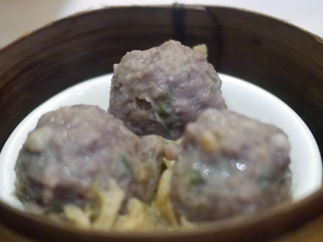 steamed beef balls at new china