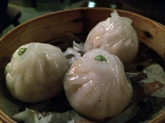 steamed vegetable dumplings at firecracker