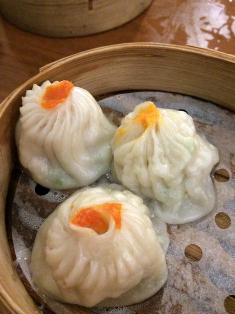 supreme shanghai seafood dumplings at shanghai dalston