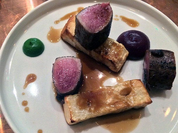 venison and celeriac at sixty four degrees london
