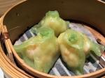 wasabi prawn dumplings at pearl liang