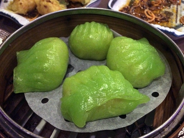 wasabi prawn dumplings at phoenix palace