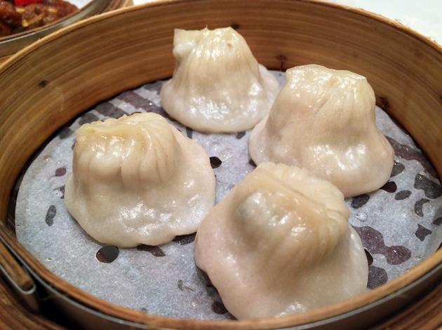 shanghai pork soup dumplings at young cheng