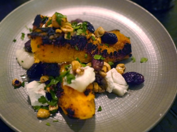 charred squash at tredwells