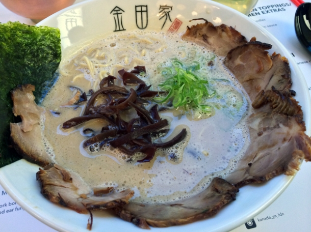 kanada-ya chasiu men tonkotsu ramen with hard noodles