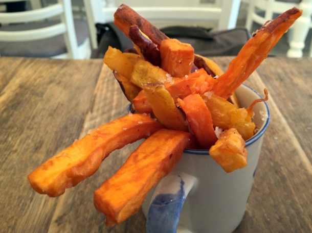 sweet potato chips at bobo social