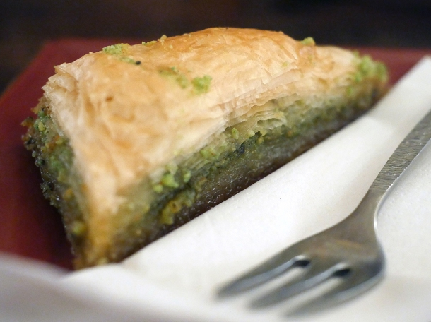 baklava at blue nile cafe woolwich