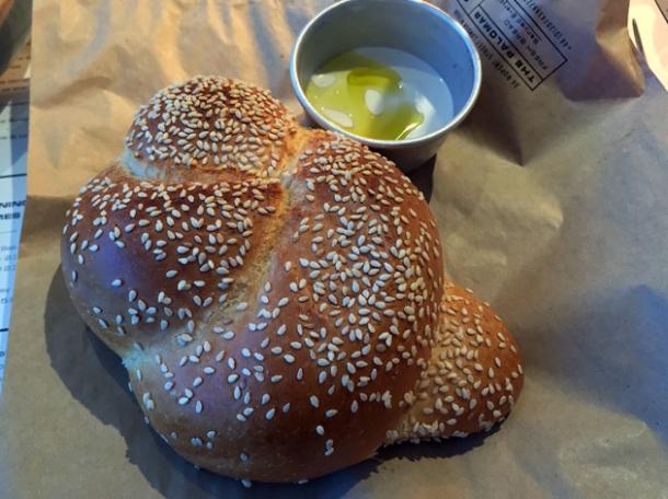 challah bread at the palomar