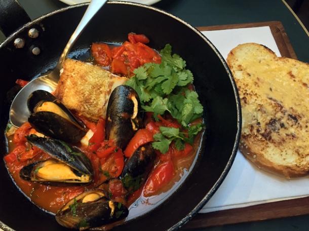 chreymeh seafood stew at the palomar