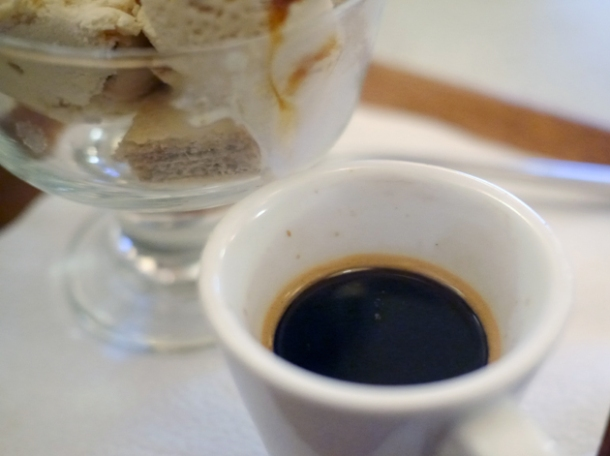 coffee affogato at blue nile cafe