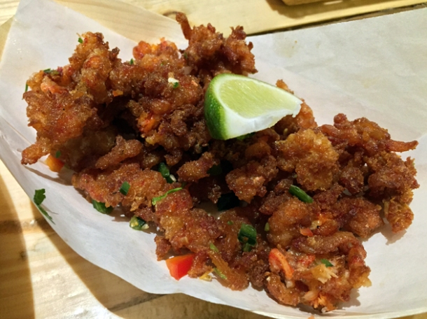 deep fried lobster legs at lobster kitchen