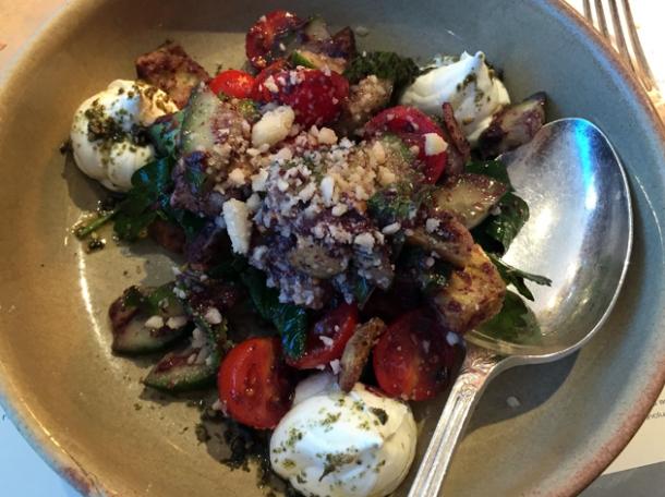 fattoush salad at the palomar