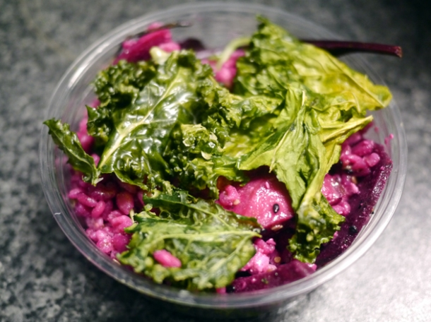 feta, kale and pickled beetroot salad from wild game co