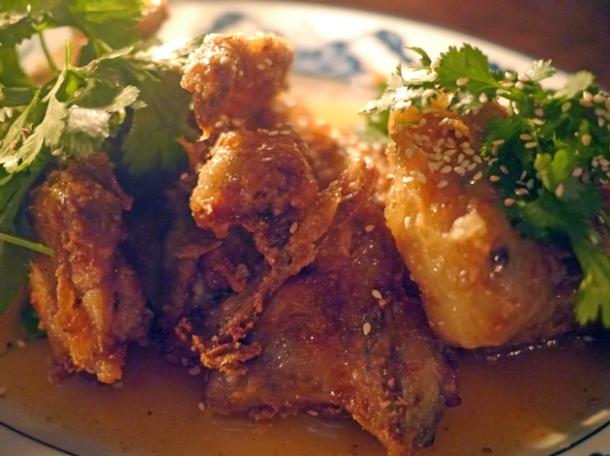 fish sauce chicken wings at smoking goat