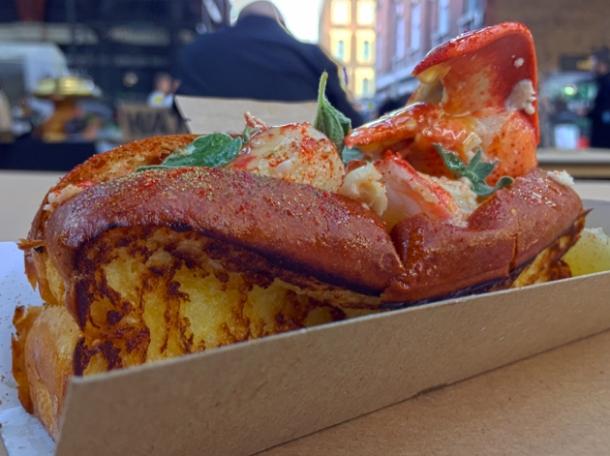 lobster roll from b.o.b.'s lobster
