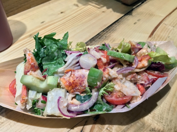 lobster salad at lobster kitchen