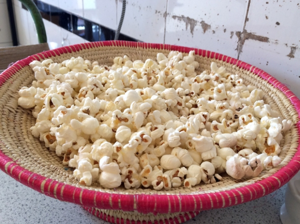 popcorn at blue nile cafe
