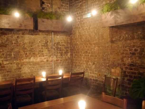 semi private dining back room at smoking goat soho london
