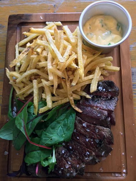 steak frites at wild game co