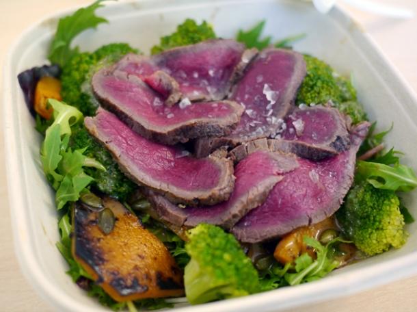 venison carpaccio salad from wild game co