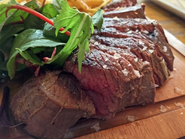venison steak at wild game co