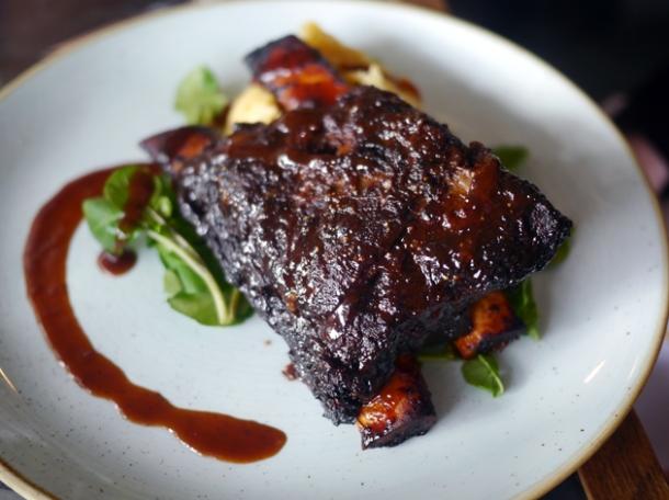 beef short rib at le chalet