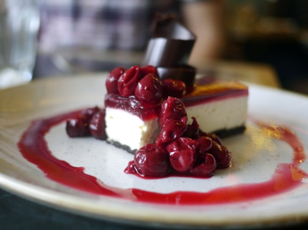 black forest cheesecake at le chalet