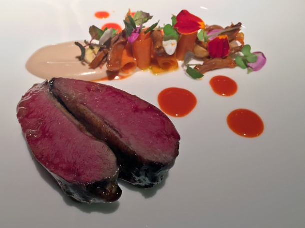 pigeon and carrots at pipero al rex
