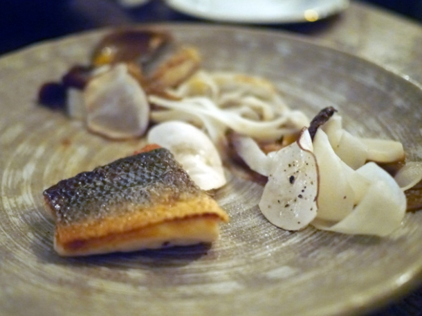 sea bass with salsify and chanterelles at the manor clapham