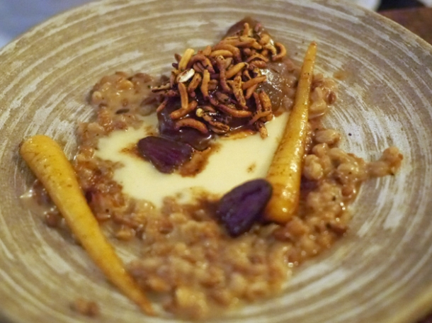 smoked partridge with grains, parsnip and malt granola at the manor clapham