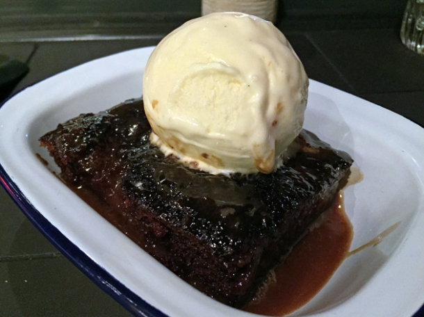 sticky toffee pudding at hotbox