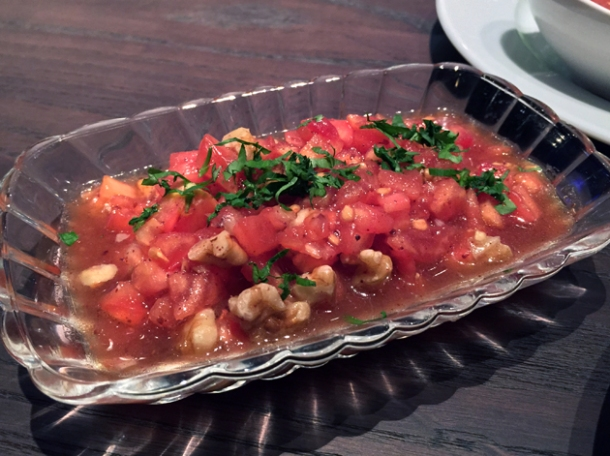 tomato and walnut salad at babaji pide