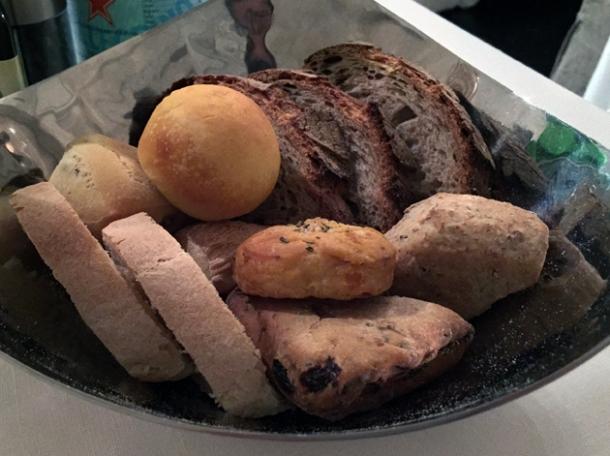bread selection at il sanlorenzo