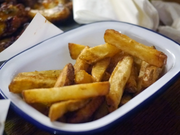 double cooked chips at ruby jean's diner at the royal george