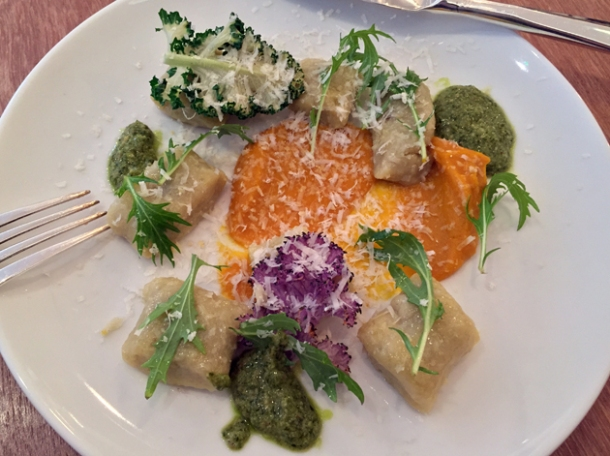 gnocchi with pumpkin and kale pesto at portland