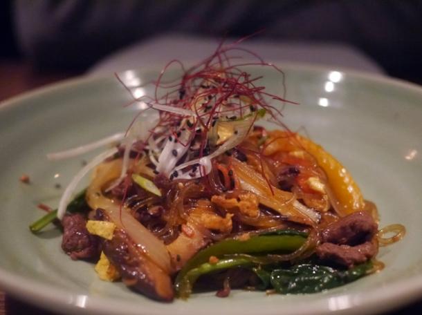 jap chae noodles at jinjuu